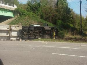 Tractor-trailer wreck shuts down US Highway 64 near Zebulon - Wake