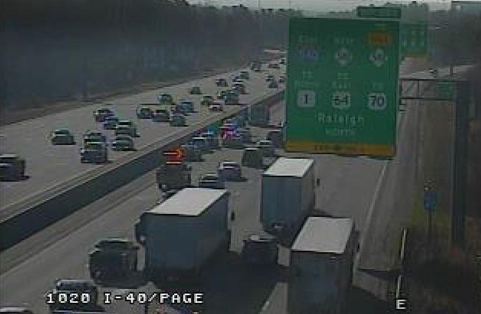 Law Enforcement Officer Involved in Wreck on I-40 in Raleigh - Wake